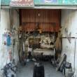 Old Citroen Jyane (the Iranian Dyane) garage in Orimeyeh, Iran